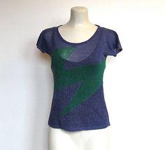 SOLD / #Vintage 1980s Designer Issey Miyake / Knit Top / Cap Sleeve Sweater by VelouriaVintage, $95.00 #isseymiyake