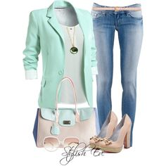 Like the mint blazer