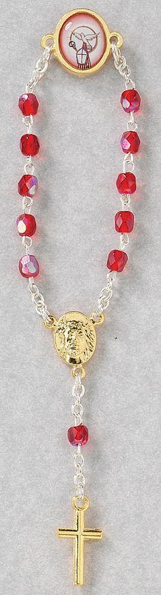 Confirmation Finger Rosary Lapel Pin