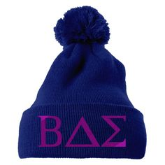 BAE Embroidered Knit Pom Cap
