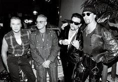 U2 in Dublin, 1992. Photo: Brendan Beirne/Rex USA.