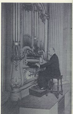 Widor playing at St Sulpice, Paris