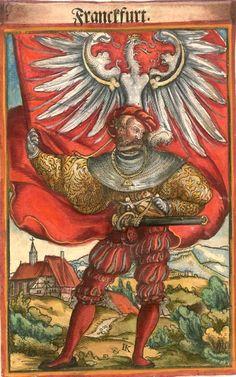 "Frankfurt am Main [Franckfurt] (f°97) -- Koebel, Jacob, ""Wapen des heyligen römischen Reichs teutscher Nation"", Franckfurth am Main, 1545 [BSB Ms. Rar. 2155]"