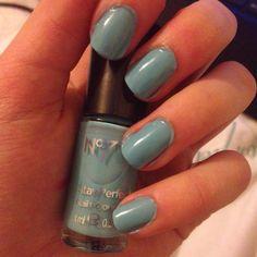 "New nail polish called ""minty fresh"""