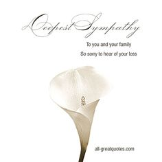 Condolence Deepest Sympathy Cards With Beautiful Messages. Share these lovely sympathy, condolences cards with grief stricken family and friends. Deepest Sympathy Messages, Sympathy Wishes, Sympathy Card Messages, Sympathy Notes, Words Of Sympathy, Condolences Quotes, Condolence Messages, Thinking Of You Quotes, Frases