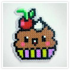 Cupcake hama mini beads by Pixel Art Shop