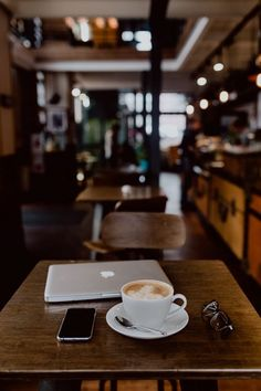 Cup of coffee & MacBook laptop iPhone mobile phone on table in cafe - Macbook Laptop - Ideas of Macbook Laptop - Cup of coffee & MacBook laptop iPhone mobile phone on table in cafe JOIN MY FERRARI FAST LEAD GEN Coffee Cafe, Coffee Drinks, Cup Of Coffee, Coffee Theme, Black Coffee, Coffee Shop Photography, Laptop Photography, Cafe Rico, Coffee Shop Aesthetic