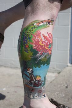 Discover an ingenious philosophical legacy with the top 70 best Calvin And Hobbes tattoo designs for men. Explore cool artistry and quirky humor ink ideas. Best Calvin And Hobbes, Calvin And Hobbes Tattoo, Calvin And Hobbes Comics, Pin Up Tattoos, Leg Tattoos, Sleeve Tattoos, Color Tattoos, Crazy Tattoos, Irezumi Tattoos