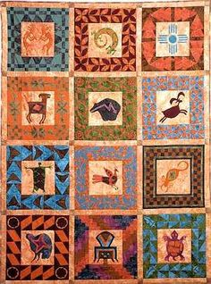 Ancient Spirits of the Mesa - 600 Southwestern Quilts, Southwest Style, Southwest Decor, Quilting Projects, Quilting Designs, Quilting Ideas, African Quilts, Quilts Online, Indian Quilt