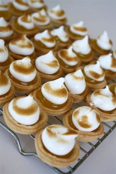 recipe for meringue, recipe for bite sized desserts, recipe for mini lemon meringue pies, miniature dessert recipe