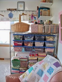 New Sewing Room ~ by A Quilting Sheep