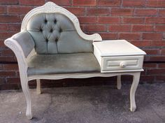 Shabby Chic French Style Telephone Seat Table Annie sloan