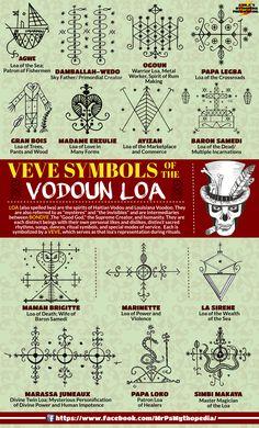 Veves of the Vodoun Loa! Veves of the Vodoun Loa! Occult Symbols, Magic Symbols, Ancient Symbols, Vodoo Tattoo, Hoodoo Spells, Witchcraft, Voodoo Magic, Baron Samedi, Papa Legba