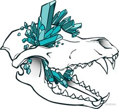 """""""Crystal Skull - Wolf"""" Stickers by nnstore 