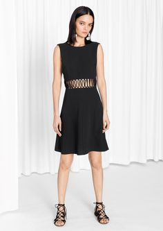 & Other Stories   Lacing Panel Dress