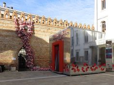 The Garbage Patch State by Maria Cristina Finucci, main courtyard of the Ca' Foscari University, Venice
