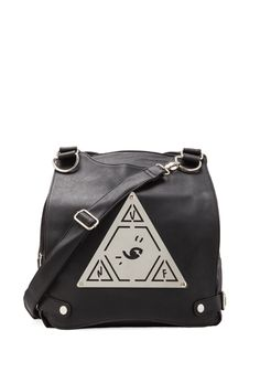 UNIF Pyramid Pack Messenger Bag in Black