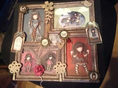 Gorjuss girl alteted photo frame in to plaque