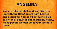 Your Name's Hidden Meaning Angelina