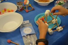 """Architect Birthday Party---ended party by creating """"buildings"""" out of candy/pretzels, etc."""