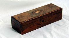 Antique English Regency Mahogany Inlaid Box