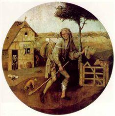 Hieronymus Bosch - The Pedlar (Museum Boijmans Van Beuningen) ヒエロニムス・ボス Rembrandt, Hieronymus Bosch Paintings, List Of Paintings, Catalogue Raisonne, Jan Van Eyck, Arte Tribal, Prodigal Son, Dutch Painters, Renaissance Art