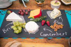 chalkboard cheese slate | Knot Just Pics #wedding