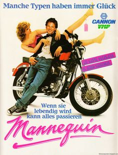 movies from the 80's | 80s Movie Posters - Filmplakate der 80er: Mannequin (1986)