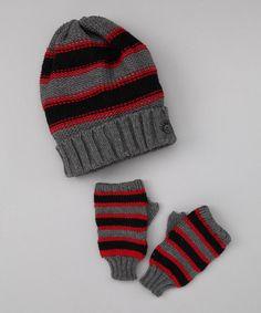 Fingerless gloves & beanie!