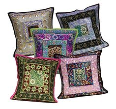5 Multi Embroidery Sequin Work Indian Sari Throw Pillow Cushion Covers Krishna Mart India http://www.amazon.com/dp/B011RNUXLY/ref=cm_sw_r_pi_dp_WCaywb1D1NPHP