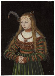 LUCAS CRANACH THE ELDER KRONACH 1472-1553 WEIMAR PORTRAIT OF PRINCESS SYBILLE OF CLEVES, WIFE OF JOHANN FRIEDRICH THE MAGNANIMOUS OF SAXONY