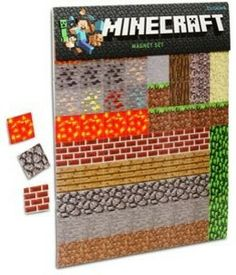 Minecraft Fridge Magnets 2 sheets of 80 blocks. Great gift for any Minecraft fans! Product includes: Two magnetic sheets with 80 square blocks each! Minecraft Party Supplies, Minecraft Gifts, Minecraft Toys, Minecraft Birthday Party, Minecraft Stuff, Minecraft Costumes, Birthday Ideas, Minecraft Seed, Minecraft Blocks