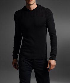 Crewneck hooded sweater by Emporio Armani