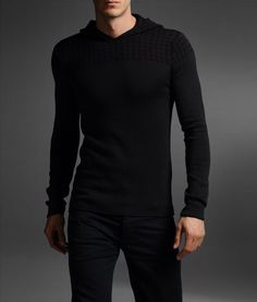 Crewneck hooded sweater by Emporio Armani
