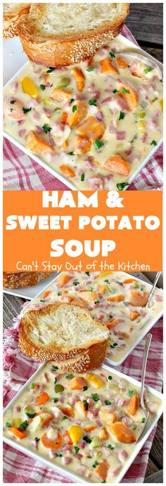 Ham and Sweet Potato Soup   Posted By: DebbieNet.com