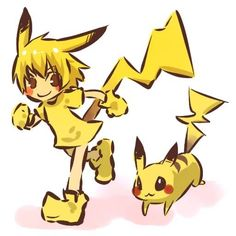 human version pikachu!
