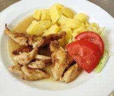 Denné menu Vranov | Pečené kuracie rezance v kukuričnom škrobe, varené zemiaky - reštaurácia Hotel Patriot*** #DenneMenu #Restauracia #Vranov #KuracieRezance