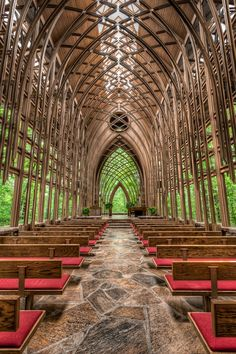 Chapel in the Woods, Arkansas - Click image to find more Travel Pinterest pins