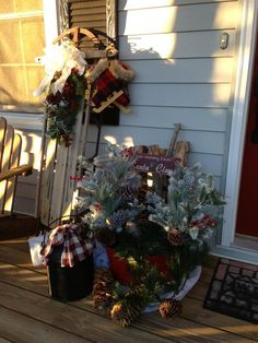 This is part of my Christmas Front Porch 2012!