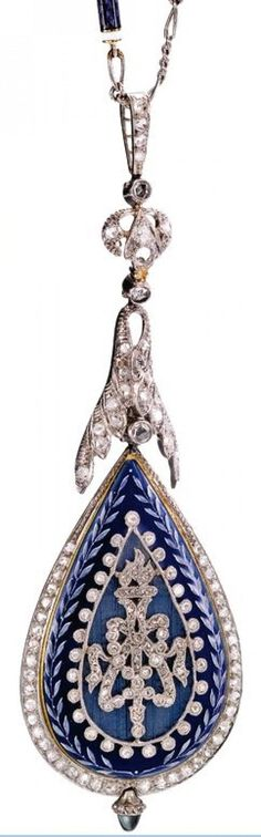 Trinket Treasure Box| Serafini Amelia| FRENCH  ENAMEL AND DIAMOND-SET PENDANT WATCH CIRCA 1910 �