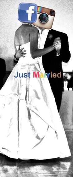 "Facebook and Instagram. Just Married : ""until death do us part"""