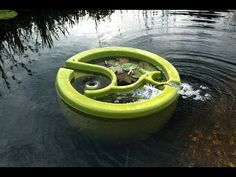 World's first floating Natural Pool filter - OLIVE : Organic Pool Filter