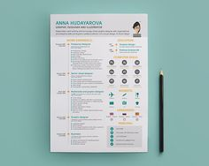 Love the simple little touches of this resume design style, with great info graphics and simple bold pops of color. For more resume inspirations click here: http://www.pinterest.com/sheppardaaron/-design-resumes/ Creative Resume Design, Resume Style, Resume Design, Curriculum Vitae, CV, Resume Template, Resumes, Resume Format.