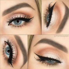 Beautiful makeup for blue eyes.