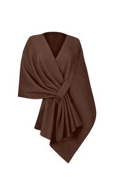 "Tuck Shawl This cozy, Soft, supple polyester fleece with pill-resistant finish. One size fits most. Approx. 20""l in back; approx. 29""l in front Flat measurement - neckline is 68"" from end to end; outside bottom edge measures 94""l from edge to edge."
