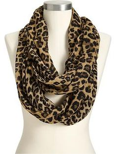 Fall/Winter Staple...Women's Leopard-Print Infinity Scarves via Old Navy..Can't beat the price $14.94