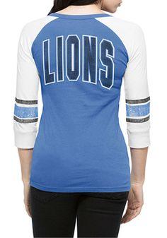 '47 Detroit Lions Womens Blue Rookie T-Shirt