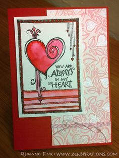 This beautiful card was created by the talented Dawn Winburn using Joanne Fink's Zenspirations - rubberstamps by Impression Obsession. Check out the Zenspirations BLOG to learn more!