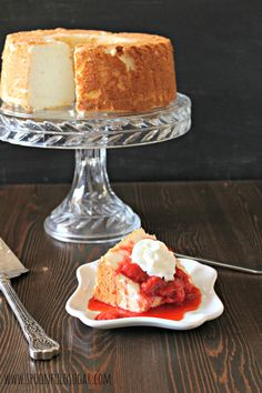 Strawberry sauce angel food cake recipe