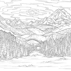 """Olympic mountains from Debbie Macomber's """"Come Home to Color"""". Available on Amazon on April 24, 2016. - Nessa"""